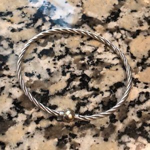 Cape Cod Twist Ball Bracelet Silver /14K Gold